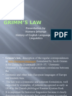 Grimm's Law (ppt)