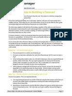 Seven Steps to Forecasting