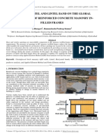Effect of Lintel and Lintel Band on the Global Performance of Reinforced Concrete Masonry in-filled Frames
