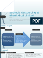 Strategic Outsourcing at Bharti Airtel Limited