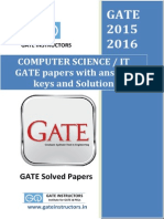 Previous GATE paper with answer keys and solutions - Computer Science cs/it