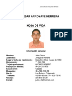 Hoja de Vida Julio Cesar Arroyave