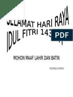 Idul Fitri Posyandu Satwika