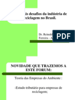 Principais Desafios da Industria da Reciclagem no Brasil