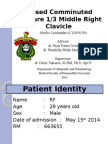 Case Presentation Meyke Liechandra C11109130 Fracture Clavicle