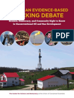 Towards an evidence-based Fracking debate 2013