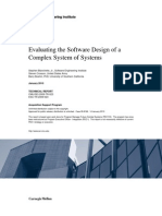 Evaluating the Software Design of a Complex System of Systems