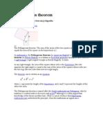 Pythagorean Theorem and Pi