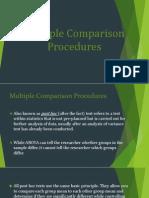 Multiple Comparison Procedures