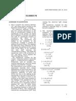 DR 4 Chemical Equilibrium