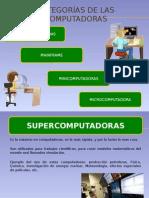 CATEGORÖAS DE LAS COMPUTADORAS