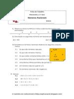Ficha Mat.7. - Números Racionais