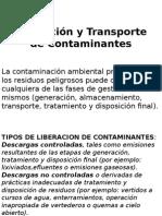 Liberacion y Transporte de Contaminantes
