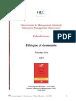 HEC - Fiche de Lecture - Sen - Ethique Et Économie