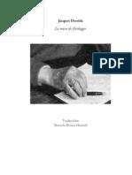 LaManoDeHeidegger Derrida