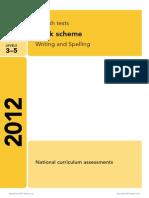 6 Ks2 English 2012 Marking Scheme Writing and Spelling External