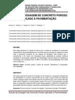 Estudo de Dosagem de Concreto Poroso Aplicado à Pavimentação
