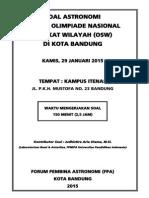 Soal Dan Jawaban OSW Kota Bandung 2015