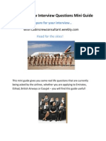 20 Cabin Crew Interview Questions