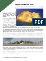 Sahara Desert -Science Piolo