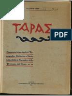 TAPAE Anno 1 N.1-2 Ottobre 1926