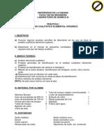 PRACTICA Nº I Análisis Cualitativo Elemental Orgánico