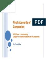 Final Accounts of Companies