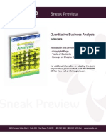 Quantitative Business Analysis Sneak Preview