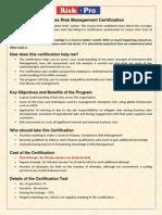 ERM Certification
