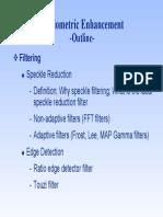 07 SAR Filtering Enhancement