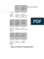 Elective Timetable