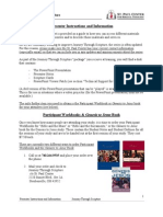 JTS Presenter Instructions and Information Sheet