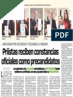 31-01-2015 Priístas reciben constancias oficiales como precandidatos