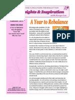 Keryn Lee Newsletter - February 2015