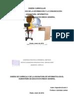 Diseño Curricular de Informatica