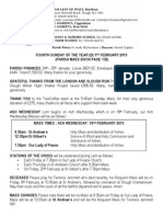 1st February 2015 Parish Bulletin