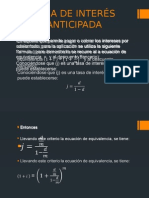 Tasa de Interés Anticipada_matematica.
