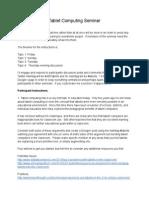 tablet computing seminar plan