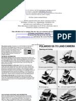Polaroid Sx-70 manual