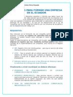 Requisitos Para Formar Una Empresa en El Ecuador - Sara Universidad