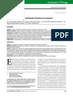 Complicacion de La Ventilacion Mecanica en Neonatos