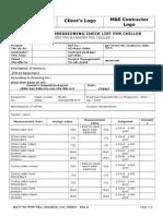 QA-F-VN-PCM- T & C Check List for Chiller