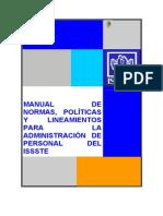 Normatividad Admin Personal Issste