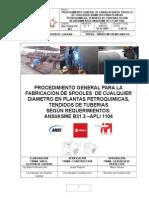 Procedimiento General Para Montaje de Fabricacion y Montaje de Tuberias Valvulas y Accesorios.r2