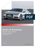 2016 Audi Order Guide No Pricing