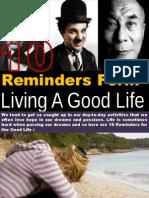 10 Reminders