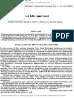 Strategic Issue management