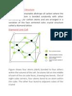 Primitive Unit Cell of Diamond Structure