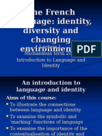 Lecture 1 Introduction to Language and Identity