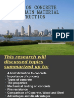 A Study on Concrete as the Main Material (BEC201)
